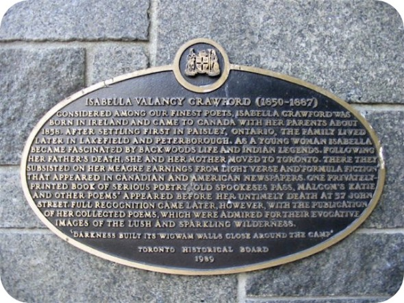 Isabella_Valancy_Crawford_Plaque
